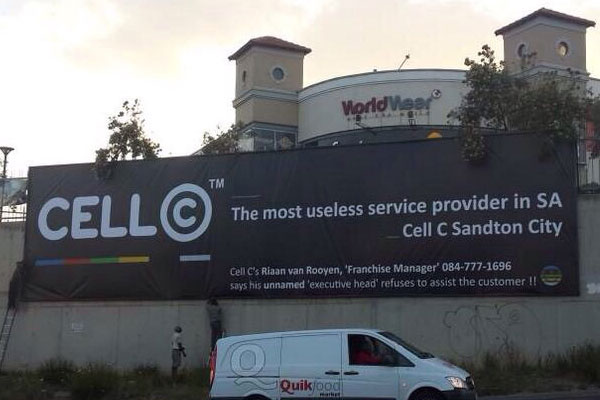 Cell-C billboard original banner
