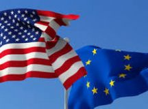 European Union (EU), United States of America (USA) flags