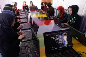 African girls join the world to commemorate the Girls in Information and Communications Technology (ICT) Day in Addis Ababa, Ethiopia