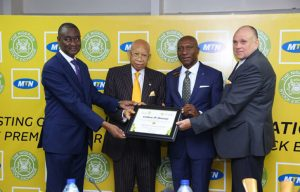 MTN and Nigeria Stock Exchange (NSE) in a moment of joy following Africa's largest mobile network listed on NSE