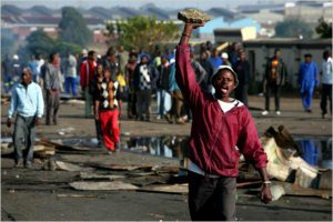 South African xenophobic violence, file photo