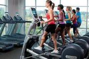 Women on fitness exercise