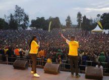 Thousands Rwandans throng MTN's official launch of its fourth edition of Mobile Money (MoMo) Month. Photo by Phyllis Birori, CAJ News Africa Rwanda Bureau