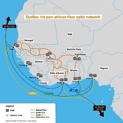Djioliba Orange map for West Africa