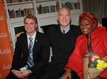 Avon Justine Executive Commercial Marketing Director, Momin Hukamdad with retired Constitutional Court Judge, Justice Edwin Cameron and executive director of the Guild Cottage Children's Home Nandisa Tilay. Photo by Zanele Siso
