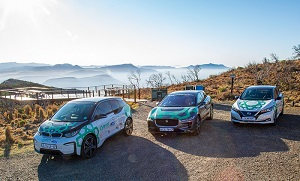 Vehicles that participated in the first Electric Vehicle Road Trip in Africa