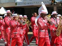 Artists and fans at a 2019 Cape Town Kaapse Klopse. File photo