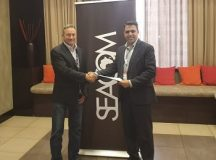 SEACOM Chief Executive Officer, Byron Clatterbuck and Tata Communications Regional Head, Middle East, Central Asia and Africa Vaneet Mehta