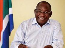 South African president Cyril Ramaphosa