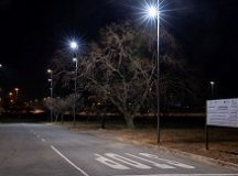 GIZ-SAGEN Programme: The completed Innovation Hub street lighting installation; Pretoria, South Africa. 21 August 2019 - Photo by Brett Eloff.
