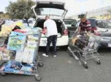 Massive panic buying in KwaZulu Natal, Gauteng provinces following barbaric looting and property destruction at malls that triggered food shortages.